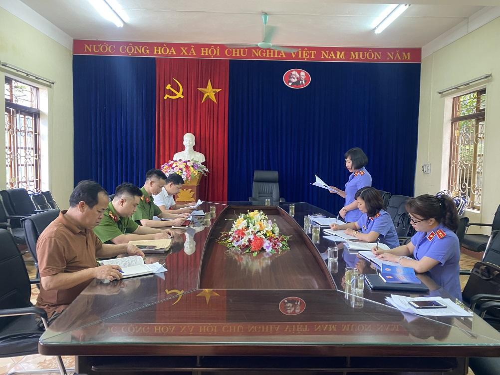 Viện kiểm sát nhân dân thành phố Yên Bái trực tiếp kiểm sátcông tác thi hành án hình sự tại UBND các xã, phường trên địa bàn thành phố Yên Bái.