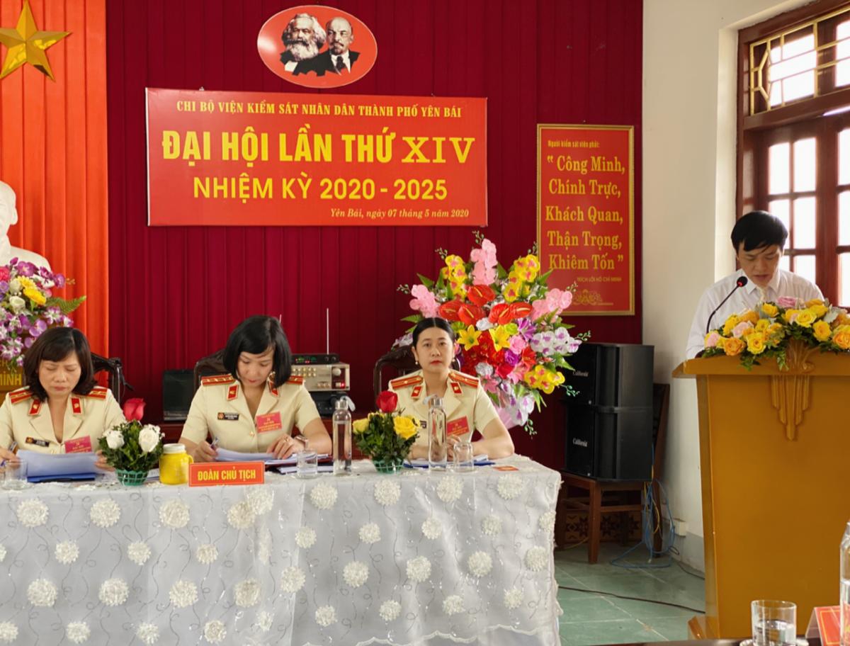 Chi bộ Viện kiểm sát nhân dân thành phố Yên Bái  tổ chức thành công Đại hội nhiệm kỳ 2020-2025