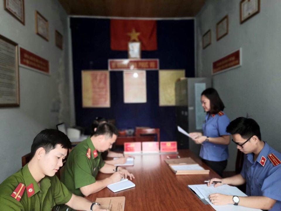 Viện kiểm sát nhân dân huyện Trấn Yên trực tiếp kiểm sát công tác thi hành án hình sự tại 10 UBND xã trên địa bàn huyện Trấn Yên