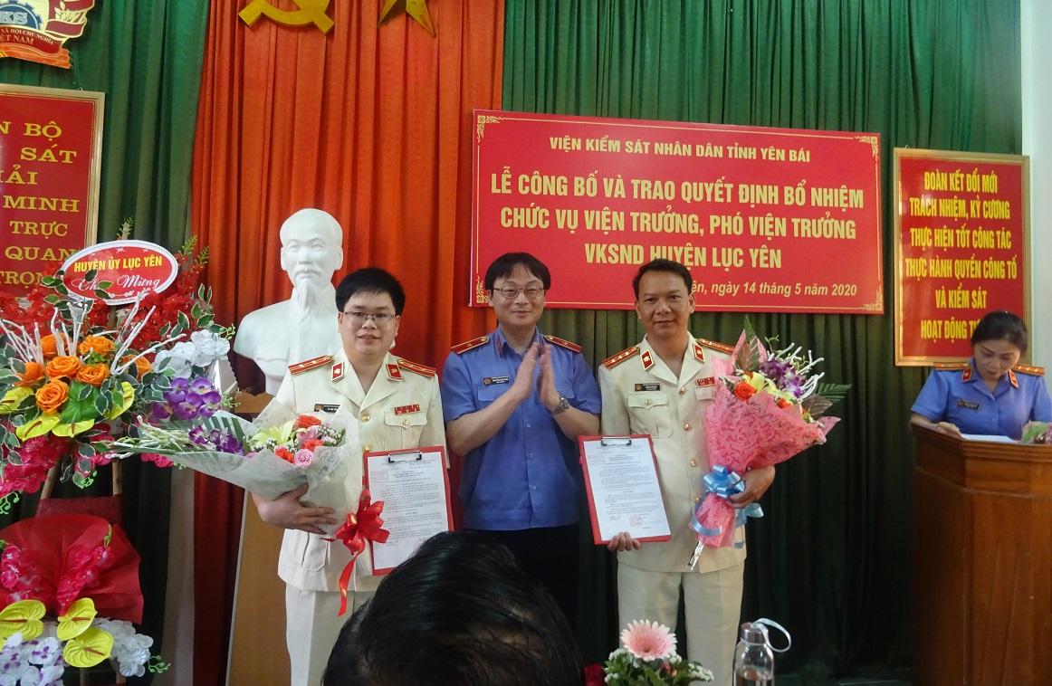 Lễ công bố và trao quyết định bổ nhiệm chức vụ Viện trưởng, Phó viện trưởng Viện kiểm sát nhân dân huyện Lục Yên
