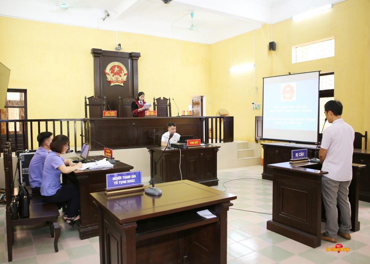 VKSTP Yên Bái thực hiện phiên tòa số hóa hồ sơ vụ án Trộm cắp tài sản theo thủ tục rút gọn