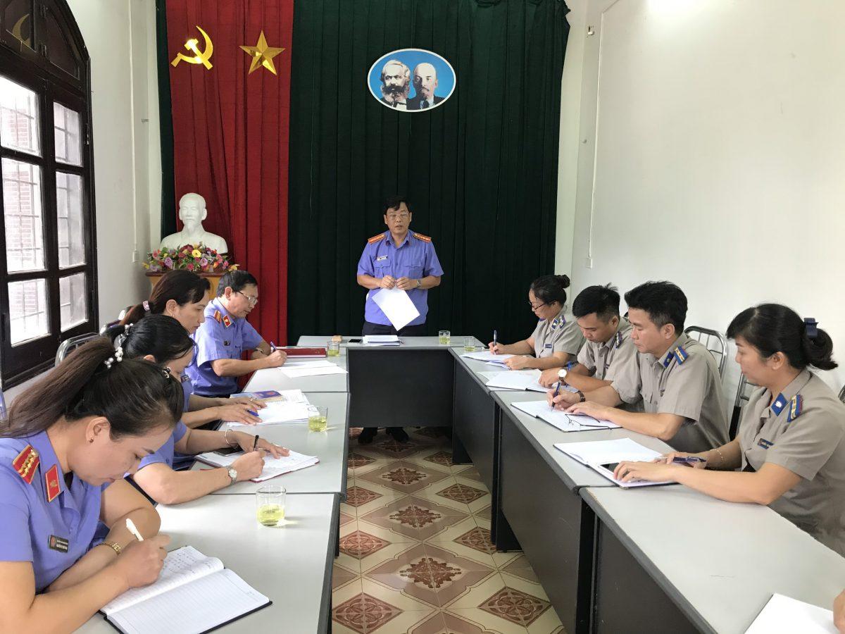Kiểm sát trực tiếp công tác thi hành án dân sự tại Chi cục Thi hành án dân sự thị xã Nghĩa Lộ và Chi cục thi hành án dân sự huyện Văn Chấn