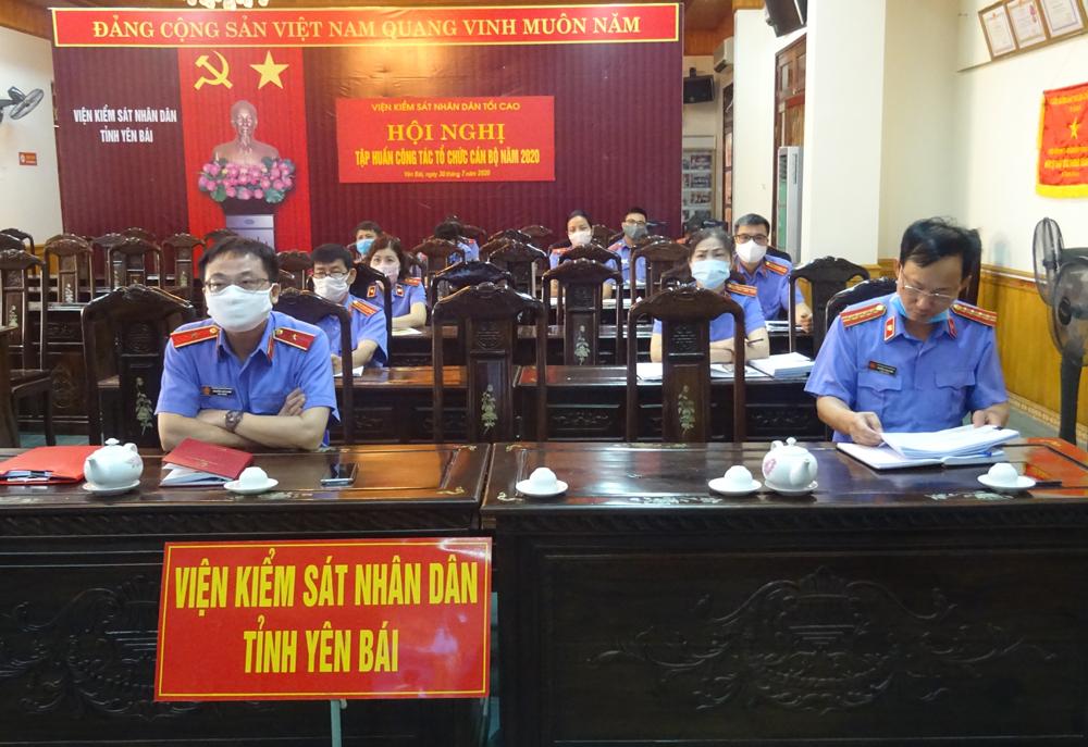 Viện kiểm sát nhân dân tỉnh Yên Bái dự Hội nghị tập huấn về công tác cán bộ năm 2020