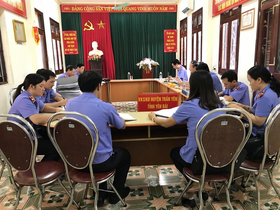 VKSND tối cao kiểm tra công tác nghiệp vụ tại VKSND huyện Trấn Yên