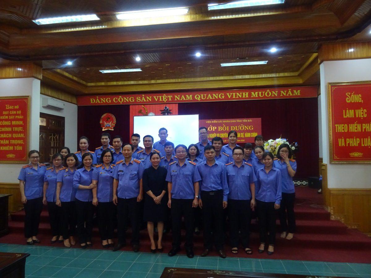 VKS tỉnh Yên Bái tổ chức lớp bồi dưỡng kỹ năng nghiệp vụ chuyên sâu về dân sự, hành chính