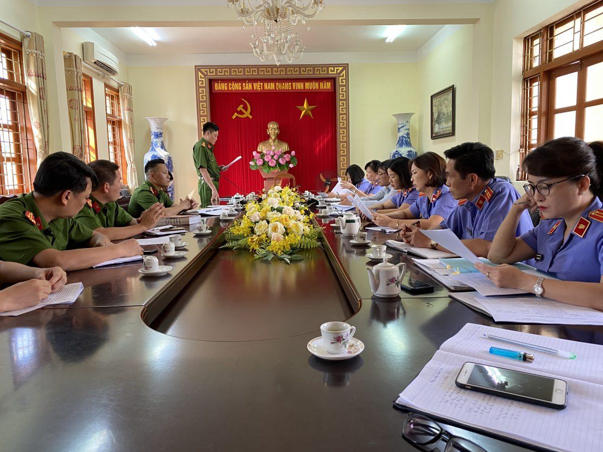 VKS thành phố Yên Bái trực tiếp kiểm sát việc tiếp nhận, giải quyết tố giác, tin báo về tội phạm và kiến nghị khởi tố tại CQCSĐT Công an thành phố