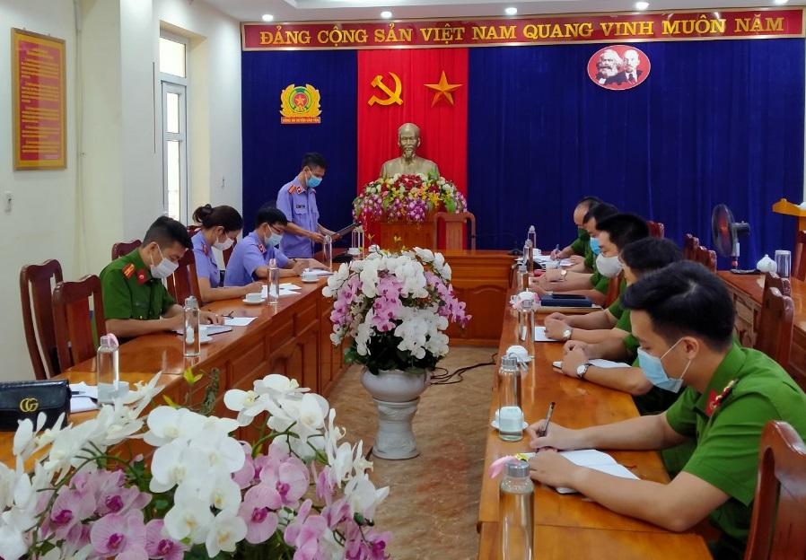 VKSND tỉnh Yên Bái kiểm sát trực tiếp việc giải quyết khiếu nại, tố cáo trong hoạt động tư pháp tại Cơ quan Cảnh sát điều tra