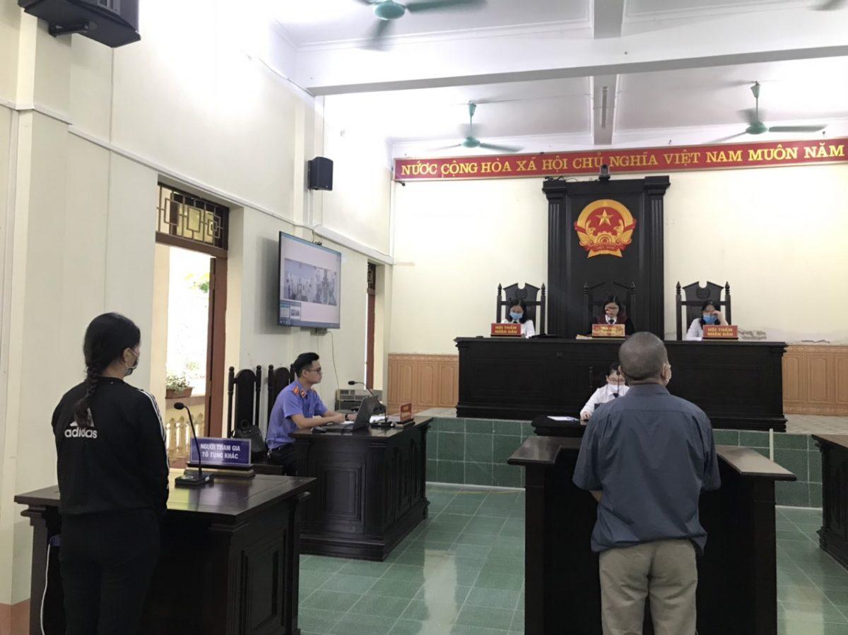 VKSND huyện Trấn Yên đã phối hợp cùng Tòa án nhân dân cùng cấp tổ chức phiên tòa số hóa hồ sơ