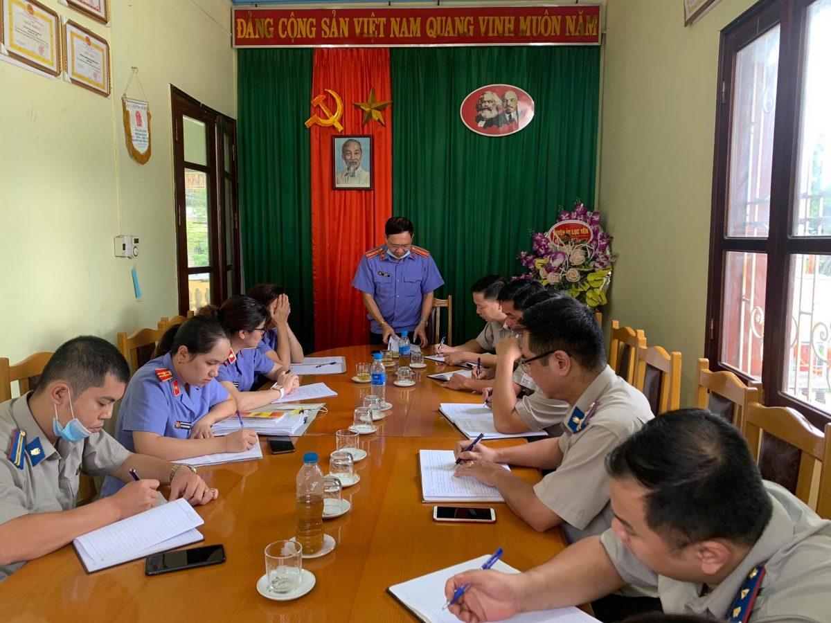 Kết luận trực tiếp kiểm sát Chi cục Thi hành án dân sự huyện Lục Yên
