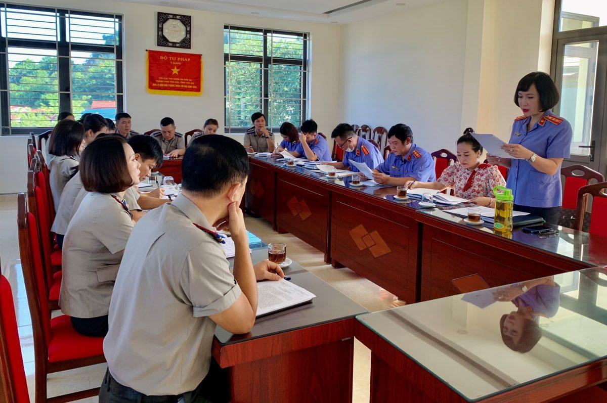 VKSND thành phố Yên Bái Kiểm sát trực tiếp công tác thi hành án dân sự tại Chi cục Thi hành án dân sự thành phố Yên Bái