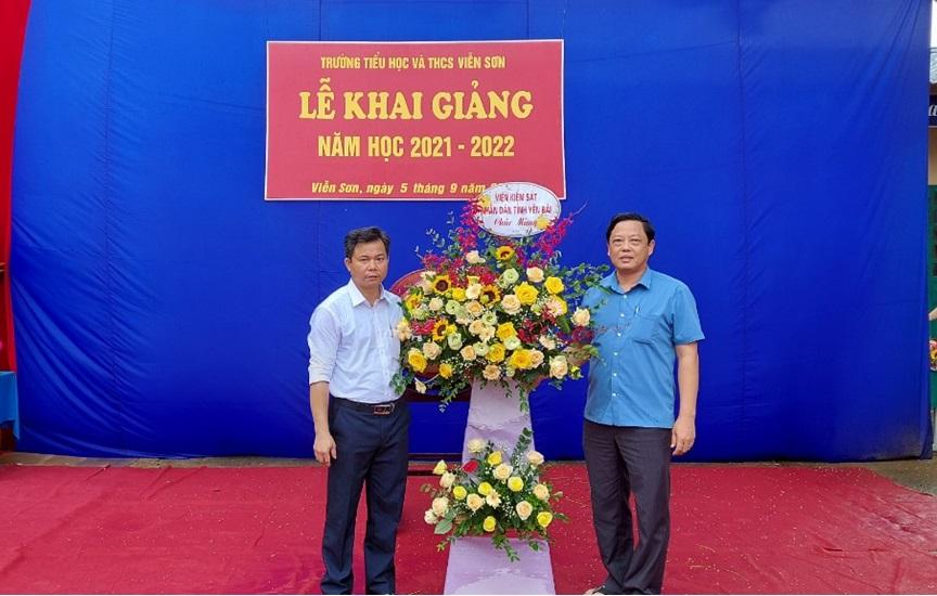 VKSND tỉnh Yên Bái dự Lễ khai giảng năm học mới tại  Trường TH&THCS Viễn Sơn, huyện Văn Yên