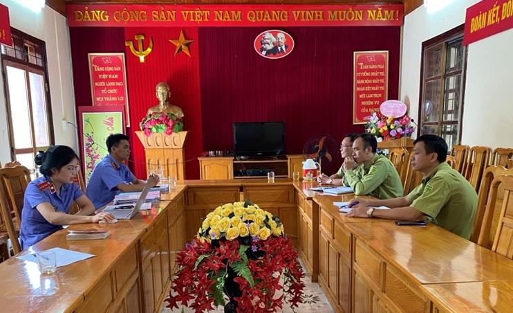 VKSND huyện Văn Yên trực tiếp kiểm sát việc tiếp nhận nguồn tin về tội phạm